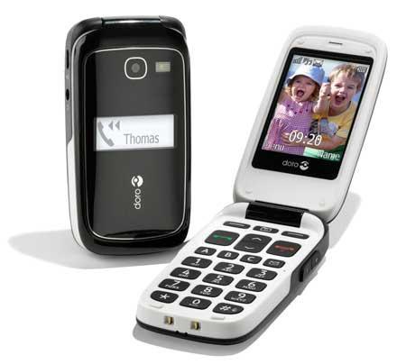 doro 615 mobiltelefon til ældre med nedsat hørelse