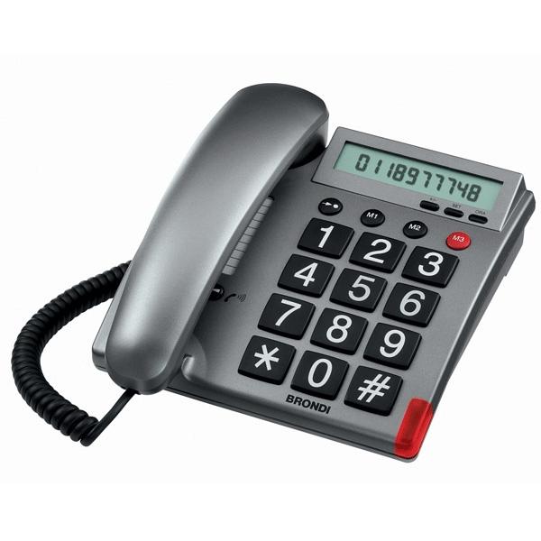 fastnet telefon fra Brondi til nedsat hørelse