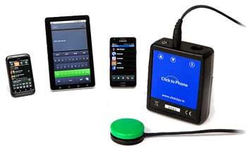 Click to Phone alternativ betjening digitalt hjælpemiddel