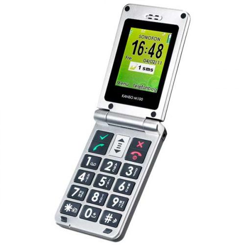 Kanso M100 mobiltelefon med store taster