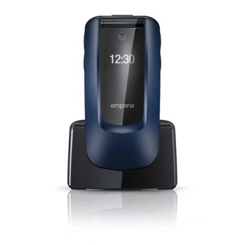 emporia COMFORT Klaptelefon i blå