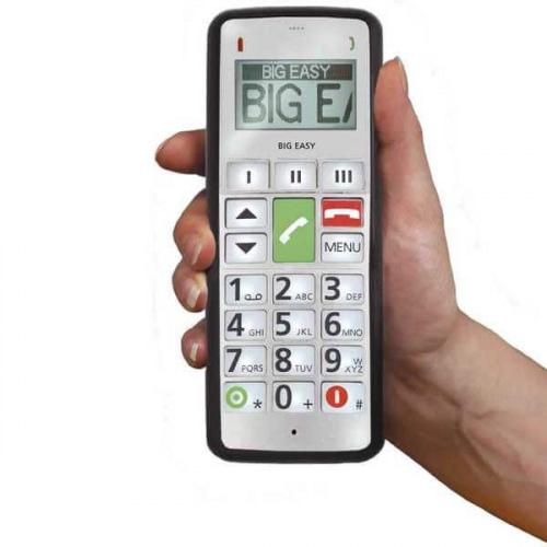 fitage, BIG EASY2 - stor mobiltelefon med teleslynge