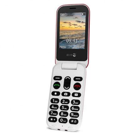 Doro 6061 Klaptelefon - rød