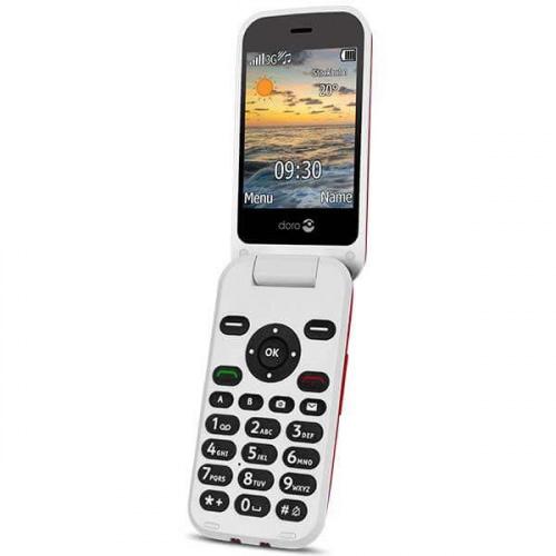 Doro 6621 klaptelefon - Rød