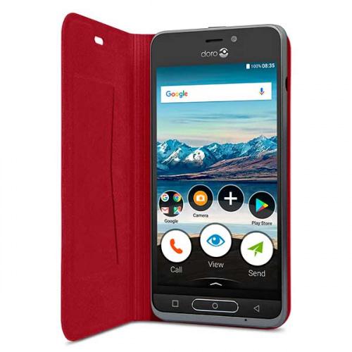 Flip Cover Doro 8035 i rød