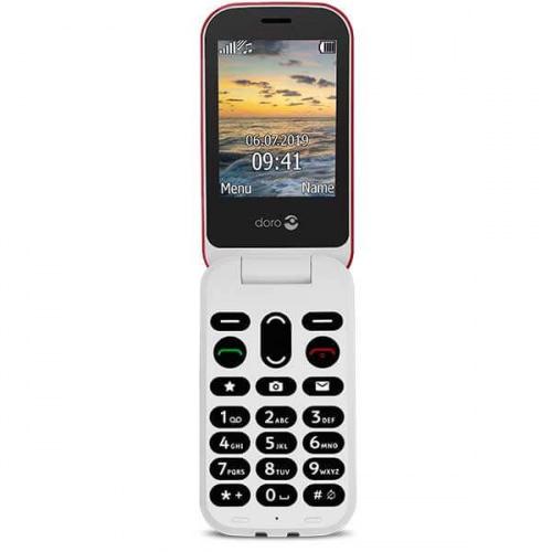 Doro 6041 Klaptelefon - Rød