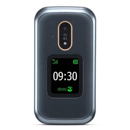 Doro 7081 sort ældrevenlig klaptelefon med høj lyd