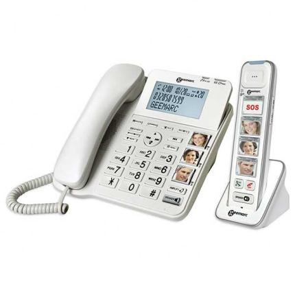 Fastnettelefon og trådløs telefon med fototaster