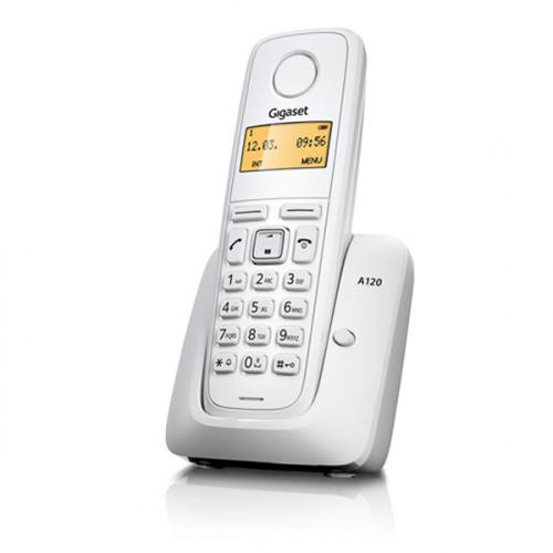 Gigaset A120 trådløs telefon med 1 håndsæt i farven hvid