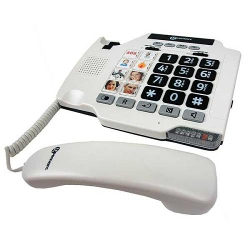 Fastnettelefon med fototaster til hurtigkald