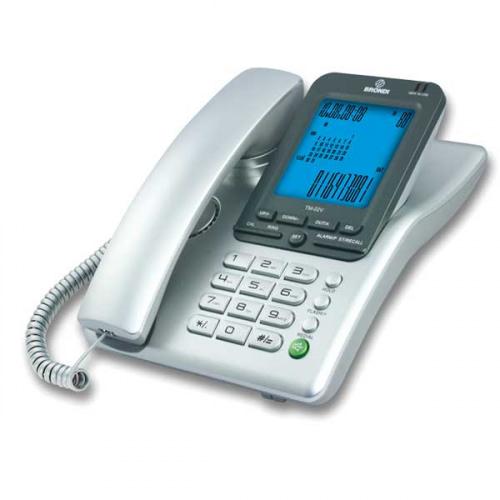 BRONDI bordtelefon TM-02V, sølv