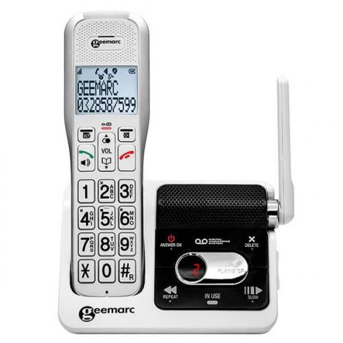 Trådløs fastnettelefon med telefonsvarer og høj lyd
