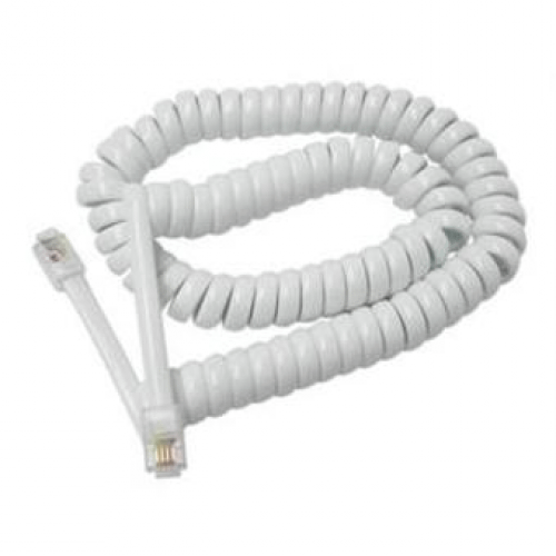 Spiralledning 5 m i hvid